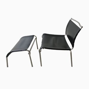 Mid-Century Lounge Chair with Ottoman by Calligaris, Italy
