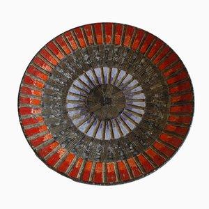 Piatto Sgraffito geometrico in ceramica di Fratelli Fanciullacci, Italia, anni '60