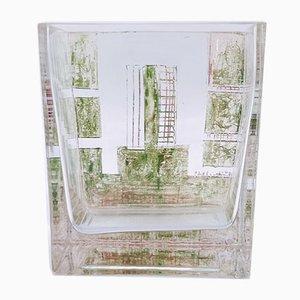 Vase en Cristal et Verre par A. Riecke, 1949