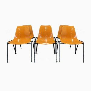 Esszimmerstühle von Georg Leowald, 1960er, 6er Set