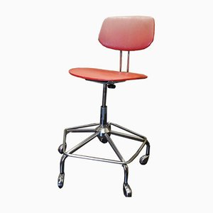 Mid-Century Mobile Swivel Desk Chair