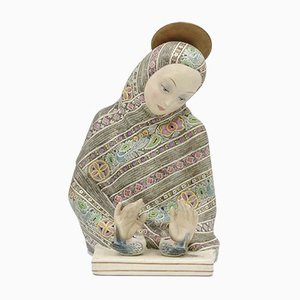 Ceramic Madonna Dell'amore Sculpture by Helen König Scavini for Fabbrica Lenci