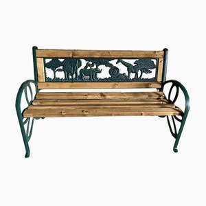 Children's Bench in Wrought Iron