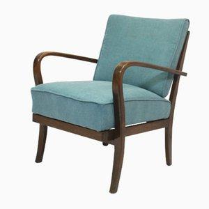 Jindrich Halabala Style Art Deco Armchair in Bentwood, 1950s