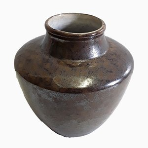 Vintage Gray-Brown Ceramic Model Number 544 Nubia Vase from Ceramano, 1960s