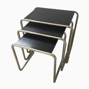 Mesas nido auxiliares Bauhaus de Marcel Breuer para Tecta. Juego de 3