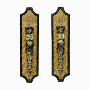 Large Faux Marble Wall Brackets, Set of 2
