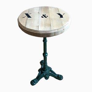 Tavolino vintage con piedistallo