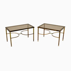 Vintage Solid Brass Side Tables, 1960s, Set of 2