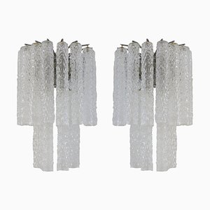 Italian Murano Glass Sconces from Venini, 1960s, Set of 2