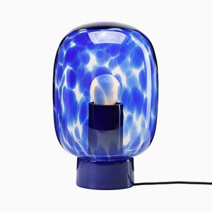 Flakes Table Lamp in Blue by Hanne Willmann for Favius