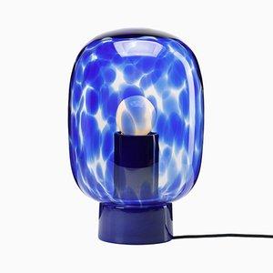 Lámpara de mesa Flakes en azul de Hanne Willmann para Favius