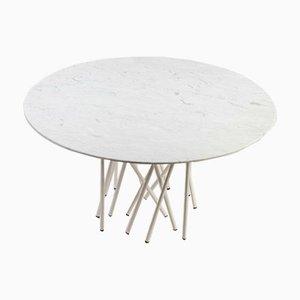 Modell Octopus Tisch aus Metall & Carrara Marmor von Marco Colombo für Arflex