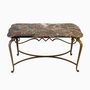Tavolo moderno in ferro e marmo di Pier Luigi Colli, anni '50