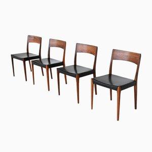 Dänische Palisander Esszimmerstühle von Hornslet Møbelfabrik, 1960, 4er Set