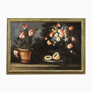 Antique Italian Still Life Painting, 18th-Century
