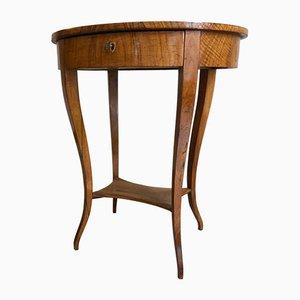 Biedermeier Light Walnut Sewing or Side Table, 1810