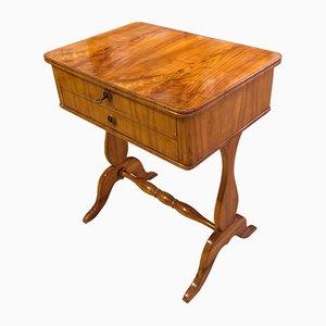 Biedermeier Cherry Veneer Sewing Table, South German, 1830s