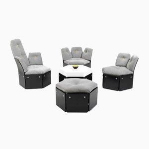 Modular Seating Group by Illum Wikkelsø for CFC Silkeborg, 1970s, Set of 5