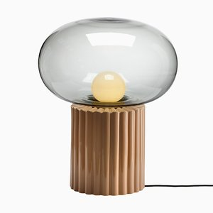 Lámpara de pie Fungi en beige cálido de Hanne Willmann para Favius