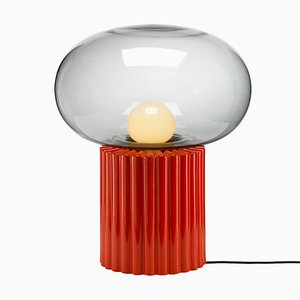 Fungi Table Lamp in Orange by Hanne Willmann for Favius