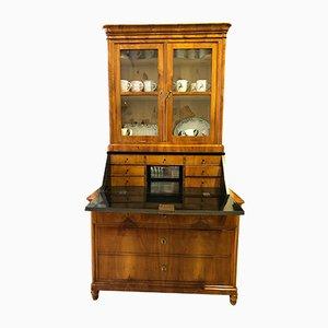 Biedermeier Cherry Veneer & Glass Top Secretaire, Hessen, 1835