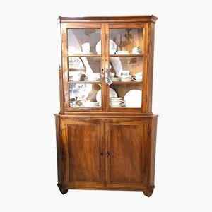 Biedermeier Walnut Corner Cupboard, Hessen, 1800s