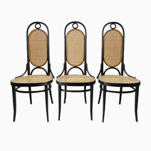 Bugholz 207R Stühle von Michael Thonet für Thonet, 1980er, 3er Set