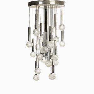 Moderne Vintage Murano Glas Lampe von Gaetano Sciolari für Sciolari, 1970er