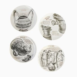 Vintage Dishes by Piero Fornasetti for Martini & Rossi Torino, 1970s, Set of 4
