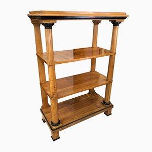 South German Biedermeier Display Shelf in Cherry Veneer & Solid Cherry, 1820s