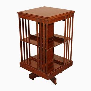 English Mahogany Revolving Bookcase with Inlays