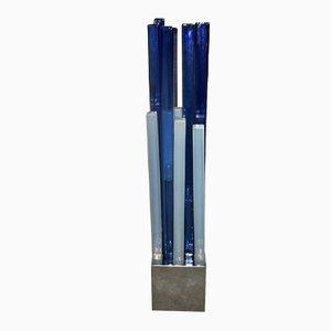 Lámpara de pie Esperia Edition de vidrio y metal de Angelo Brotto