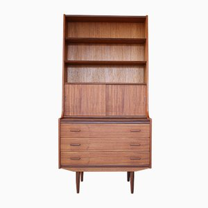 Mid-Century Teak Secretaire Cabinet with Shelves, 1960s