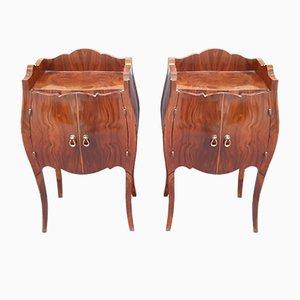 Art Deco Bedside Tables in Walnut