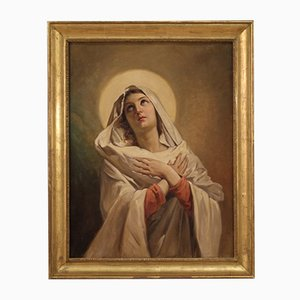Splendid Virgin by R. Morgari, 19th Century