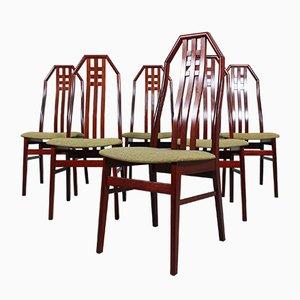 Britische Palisander Esszimmerstühle, 1960er, 6er Set