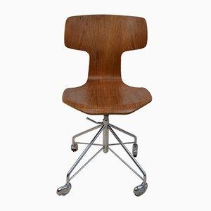 Chaise de Bureau Ajustable Modèle 3113 par Arne Jacobsen pour Fritz Hansen