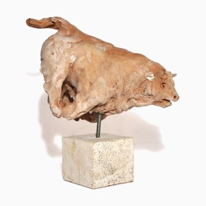 Terracotta Bull Sculpture by Mario Bertozzi