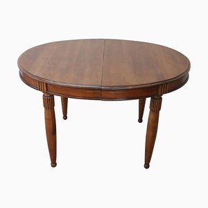 Extendable Oval Oak Dining Table, 1930s