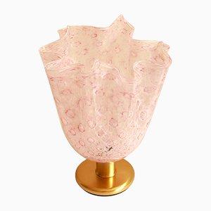 Lampe de Bureau Fazzoletto Vintage en Verre de Murano Rose de La Murrina, Italie, 1970s