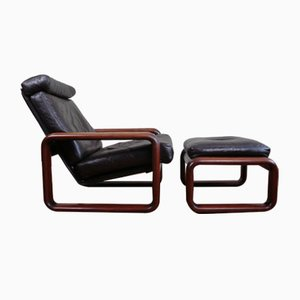 Hombre Chair with Ottoman by Burkhard Vogtherr for Rosenthal, Set of 2