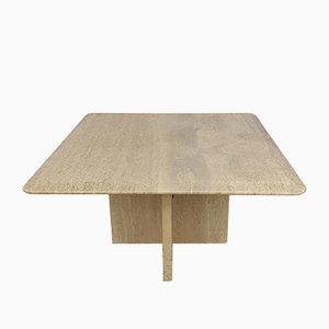 Table Basse en Travertin, Italie, 1987