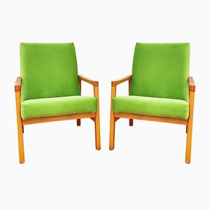 Czech Armchairs from TON, 1960s, Set of 2