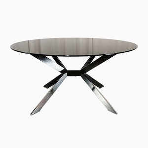 Glass Dining Table by Rolf Benz