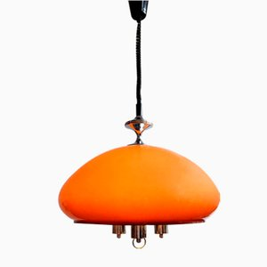 Hungarian Space Age Adjustable Pendant Lamp by Szarvasi, 1970s