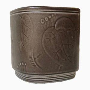 Keramikvase von Nils Thorsson für Aluminia, 1950er