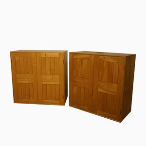 Solid Elm Book Cabinets by Mogens Koch for Rud Rasmussen, Set of 2