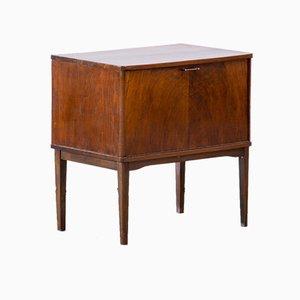 Vintage Scandinavian Vinyl & Wood Cabinet