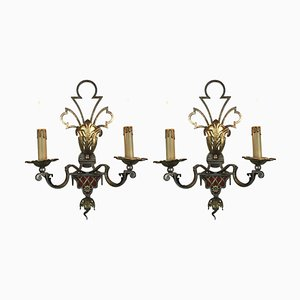 Silver and Gold Plated Iron Sconces from Banci, Set of 2